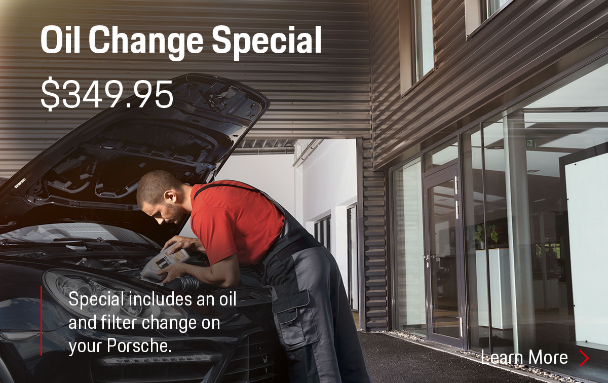 Porsche Oil Change Service Special Coupon