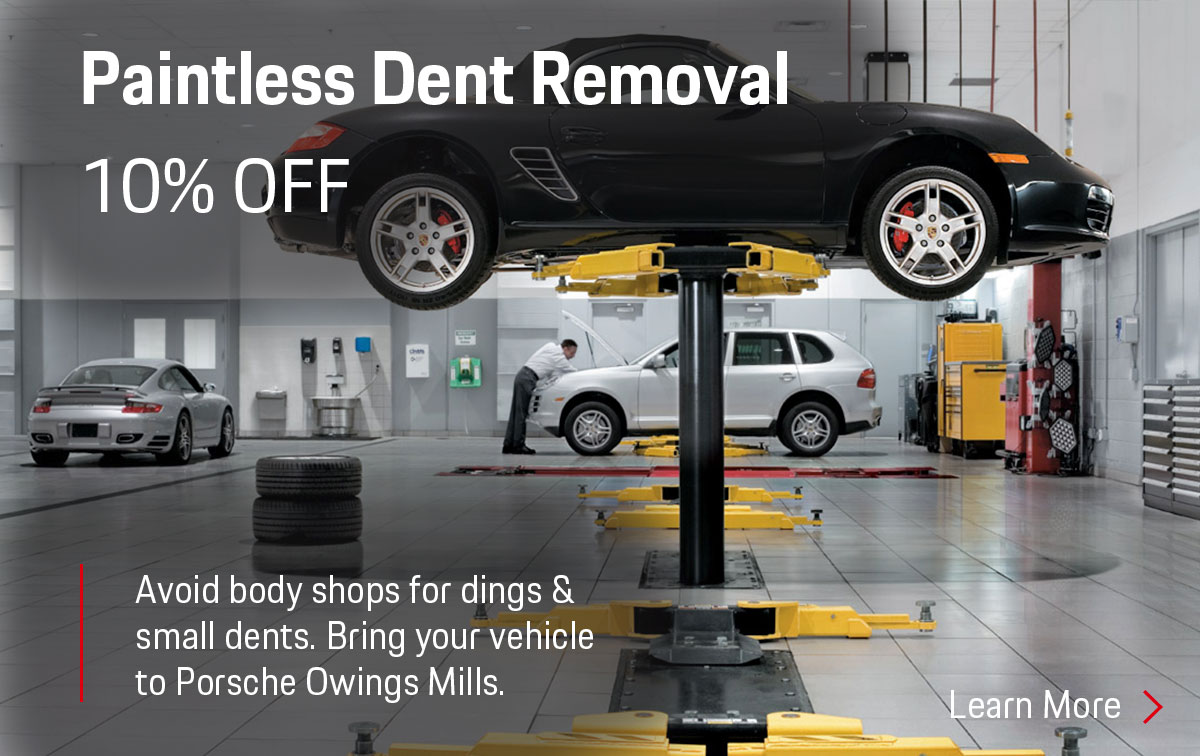 Porsche Paintless Dent Removal Service Special Coupon