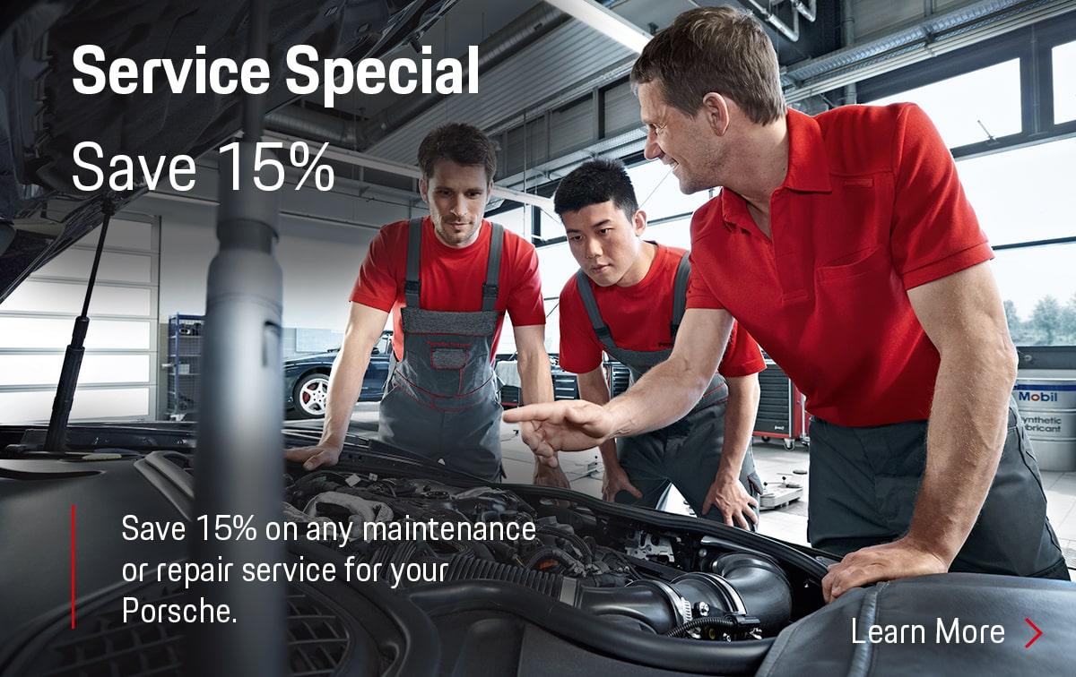 Porsche Service Special Coupon