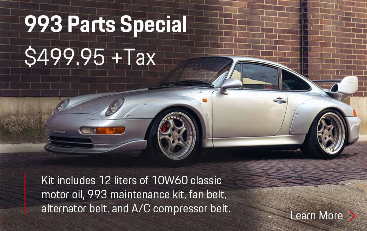 Porsche 993 Parts Special Coupon