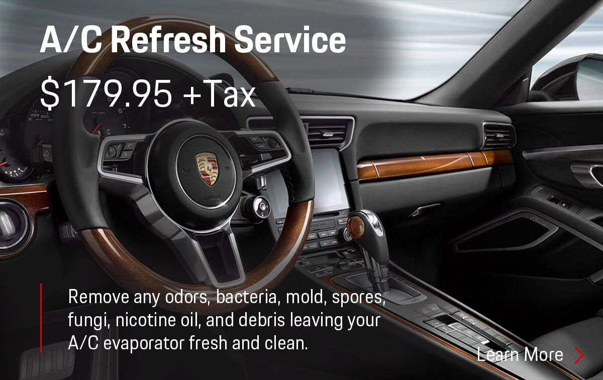 Porsche A/C Refresh Service Special Coupon