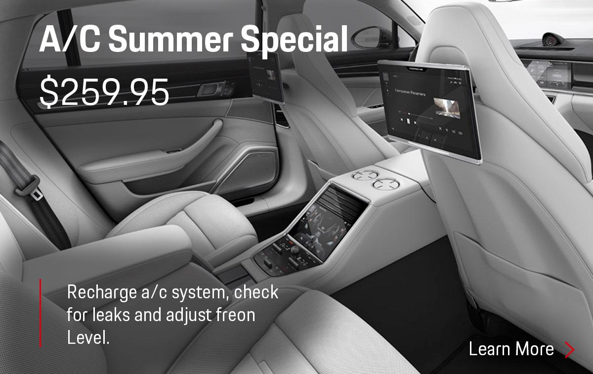 Porsche A/C Summer Service Special Coupon