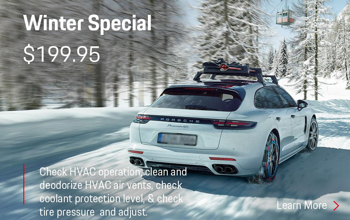 Porsche Winter Service Special Coupon