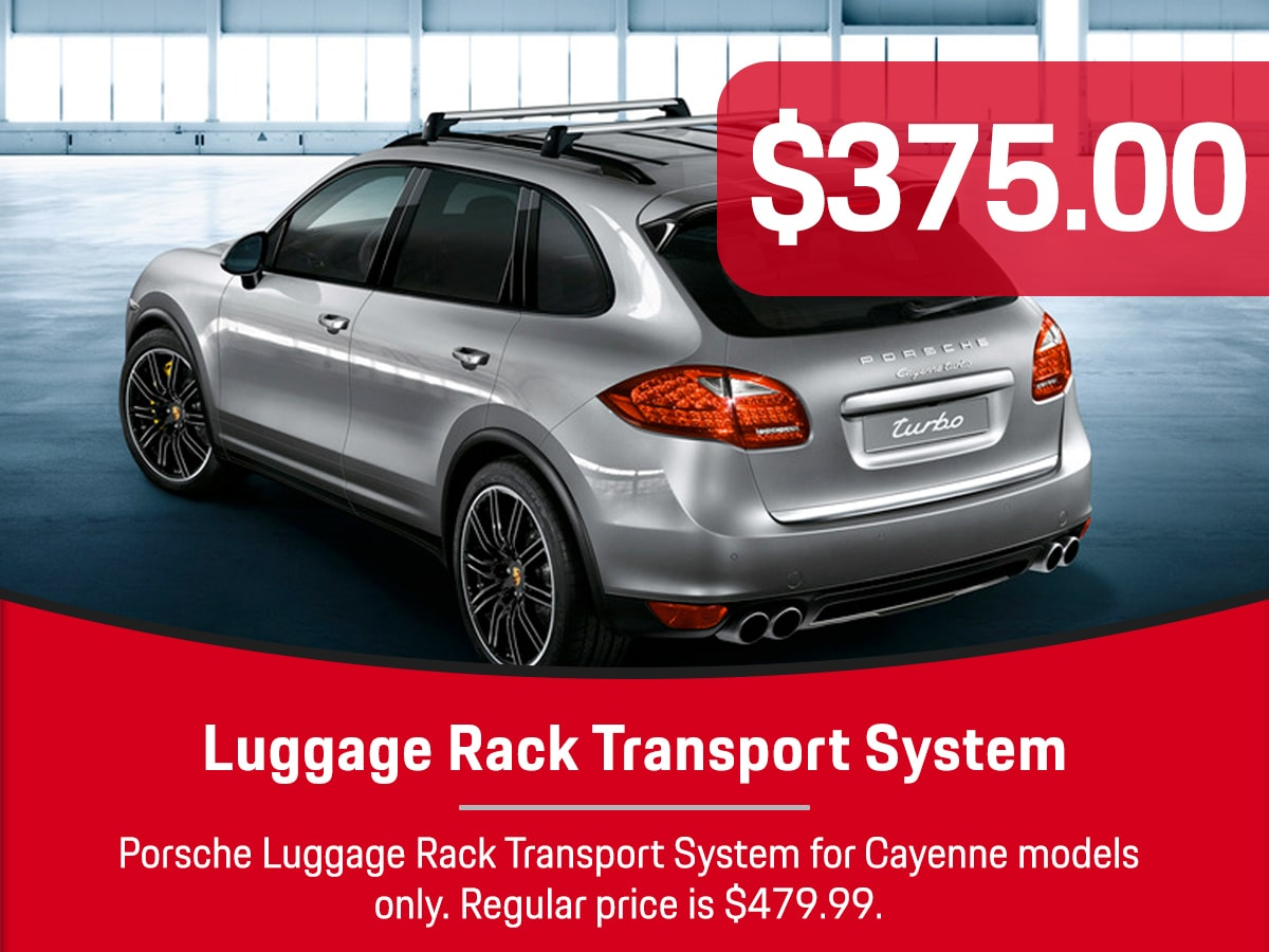 Porsche Luggage Rack Transport System Special Coupon