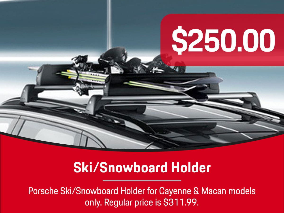 Porsche Ski/Snowboard Holder Special Coupon
