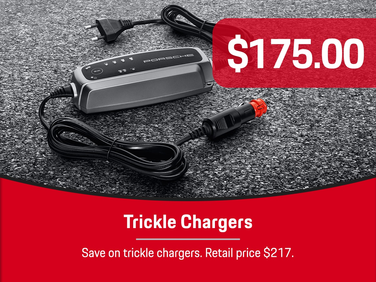 Porsche Trickle Chargers Special Coupon