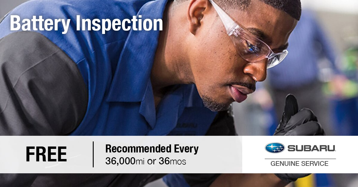 Briggs Subaru of Topeka Battery Inspection & Testing Coupon