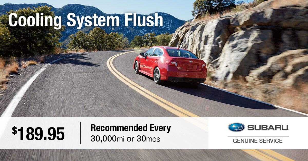 Subaru Cooling System Flush Service Special Coupon