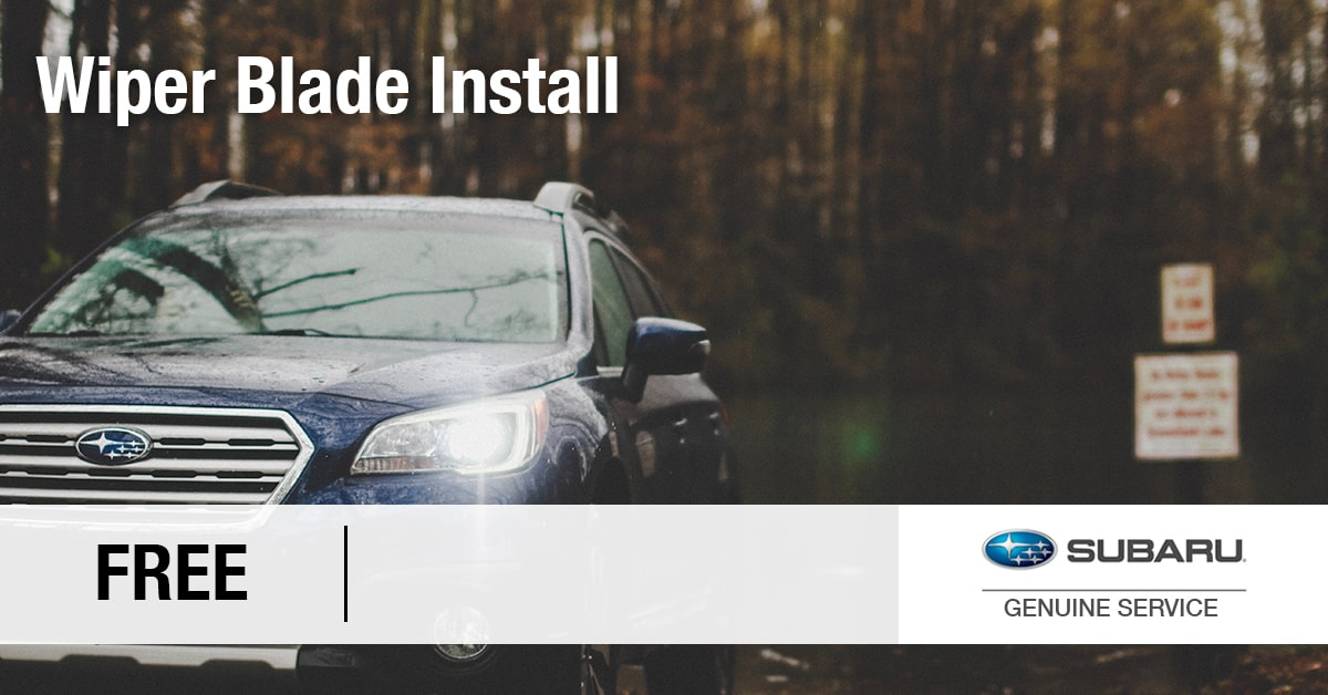 Subaru Free Installation of Wiper Blades Service Special Coupon