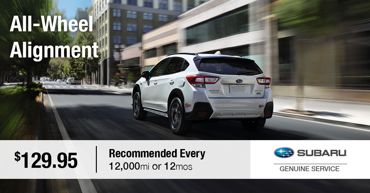 Subaru All-Wheel Alignment Service Special Coupon