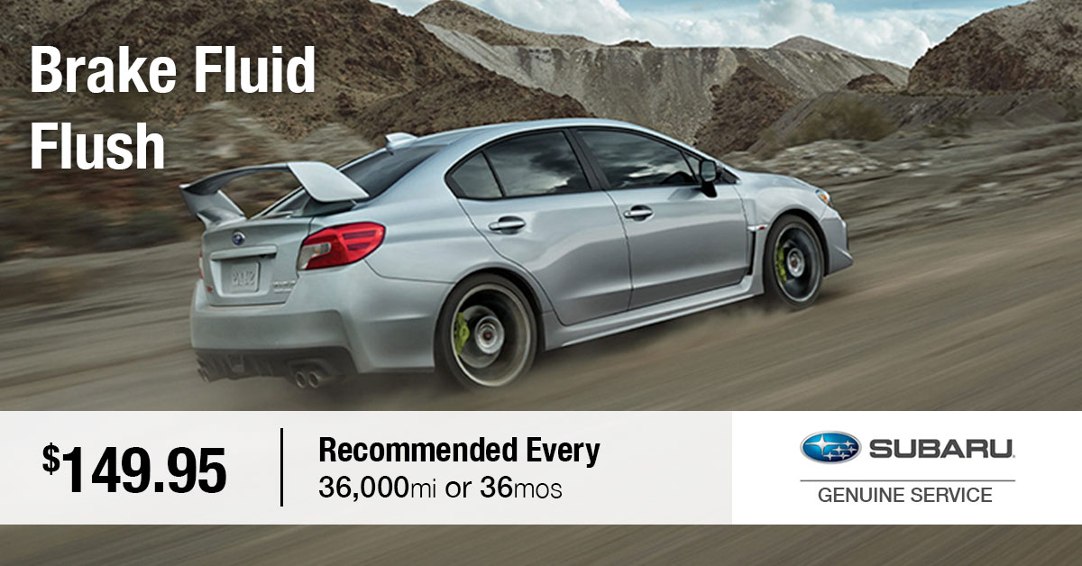 Subaru Brake Fluid Flush Service Special Coupon