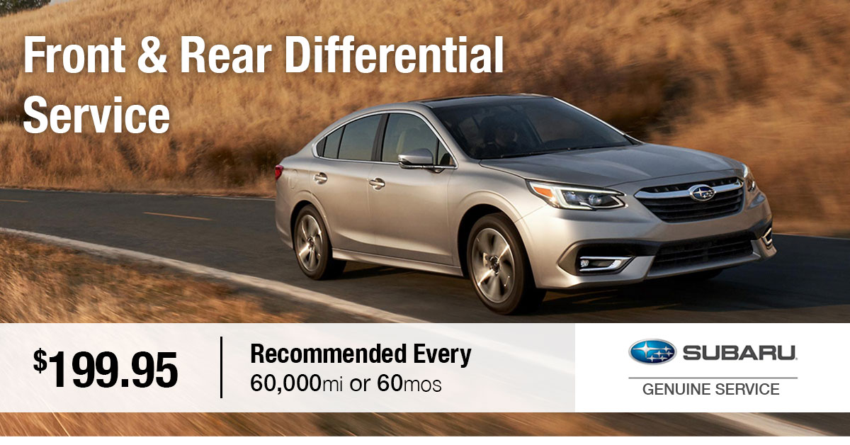 Subaru Front & Rear Differential Service Special Coupon