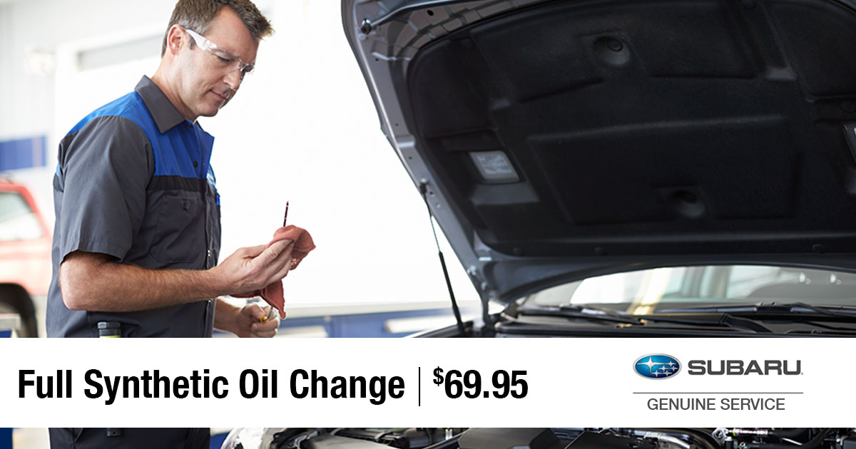 Subaru Synthetic Oil Change Service Special Coupon