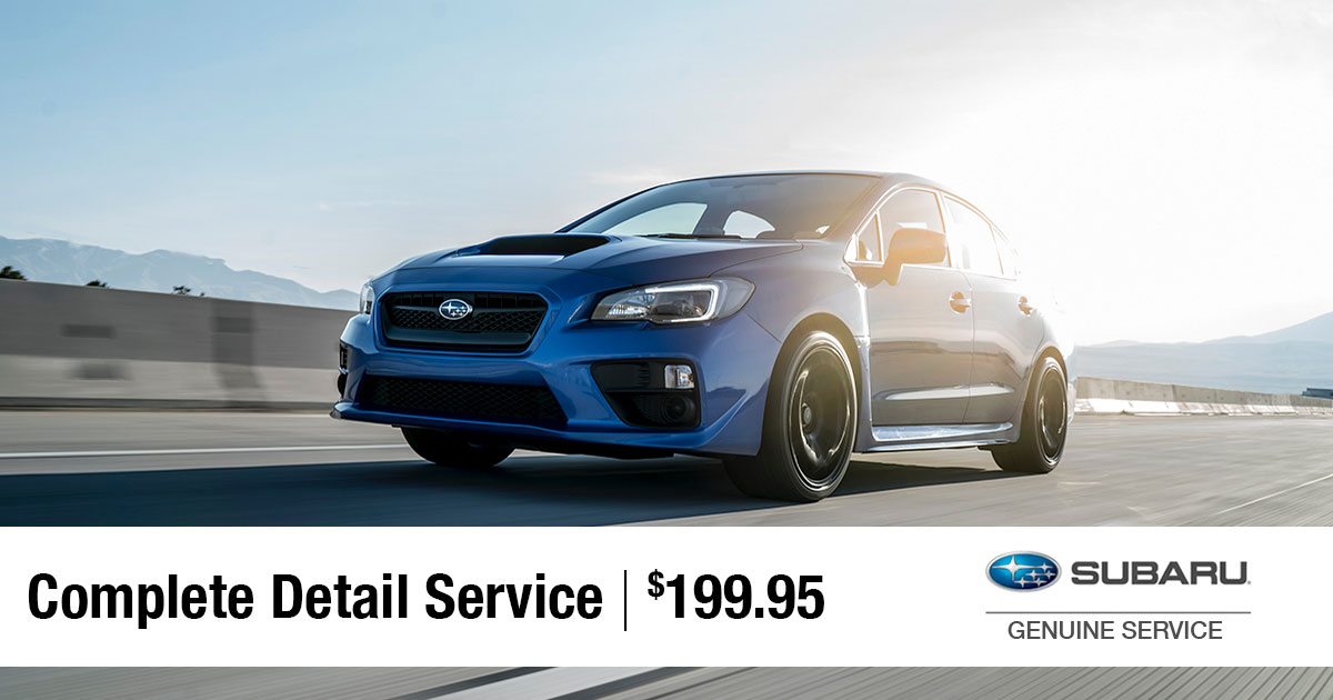 Subaru Complete Detail Service Special Coupon