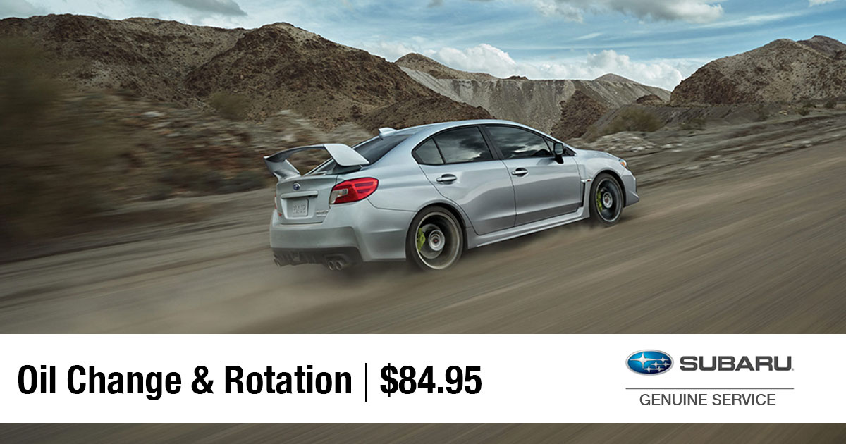 Subaru Oil Change & Tire Rotation Service Special Coupon