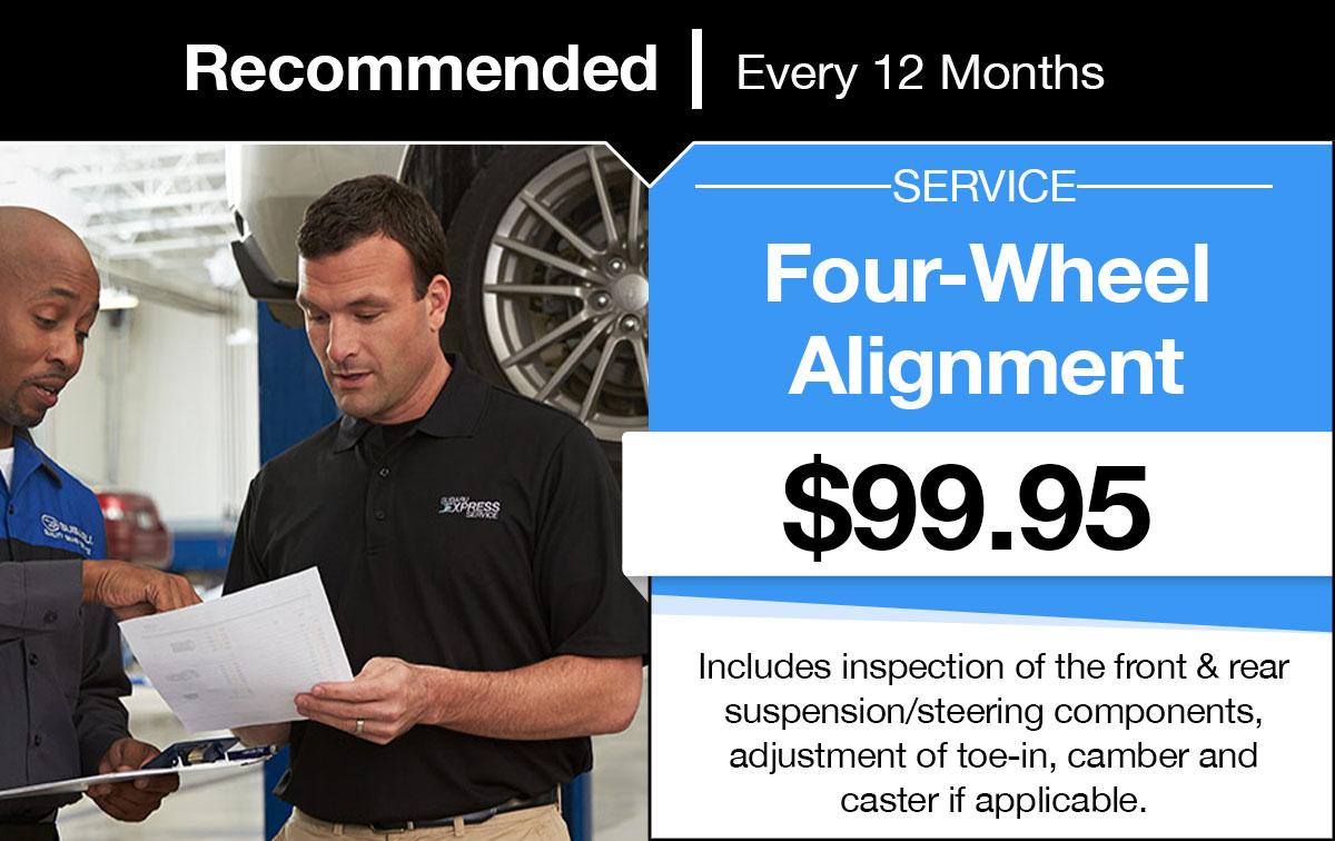 Subaru Four-Wheel Alignment Service Special Coupon