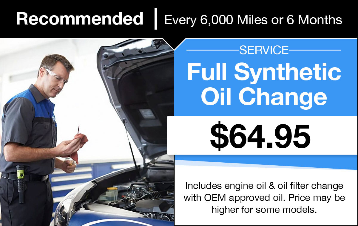 Subaru Full Synthetic Oil Change Service Special Coupon