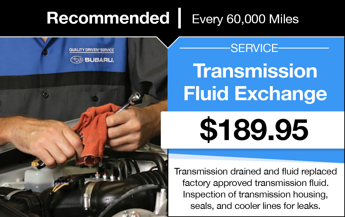 Subaru Transmission Fluid Exchange Service Special Coupon