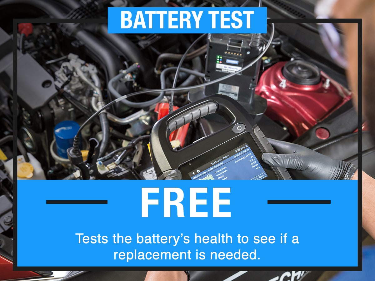 Battery Test Service Special Coupon