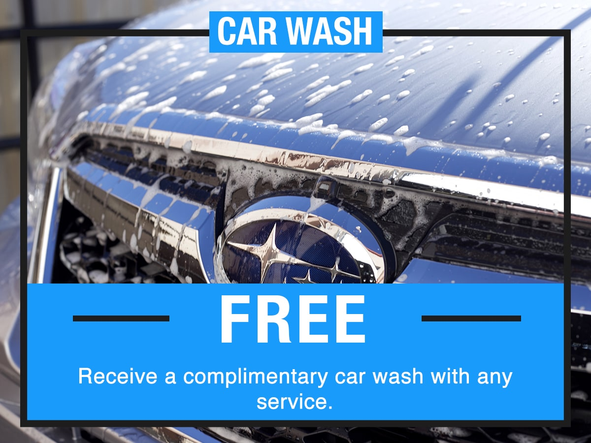 Car Wash Service Special Coupon