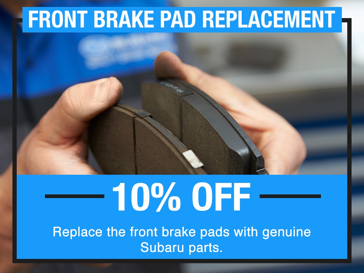 Front Brake Pad Replacement Service Special Coupon