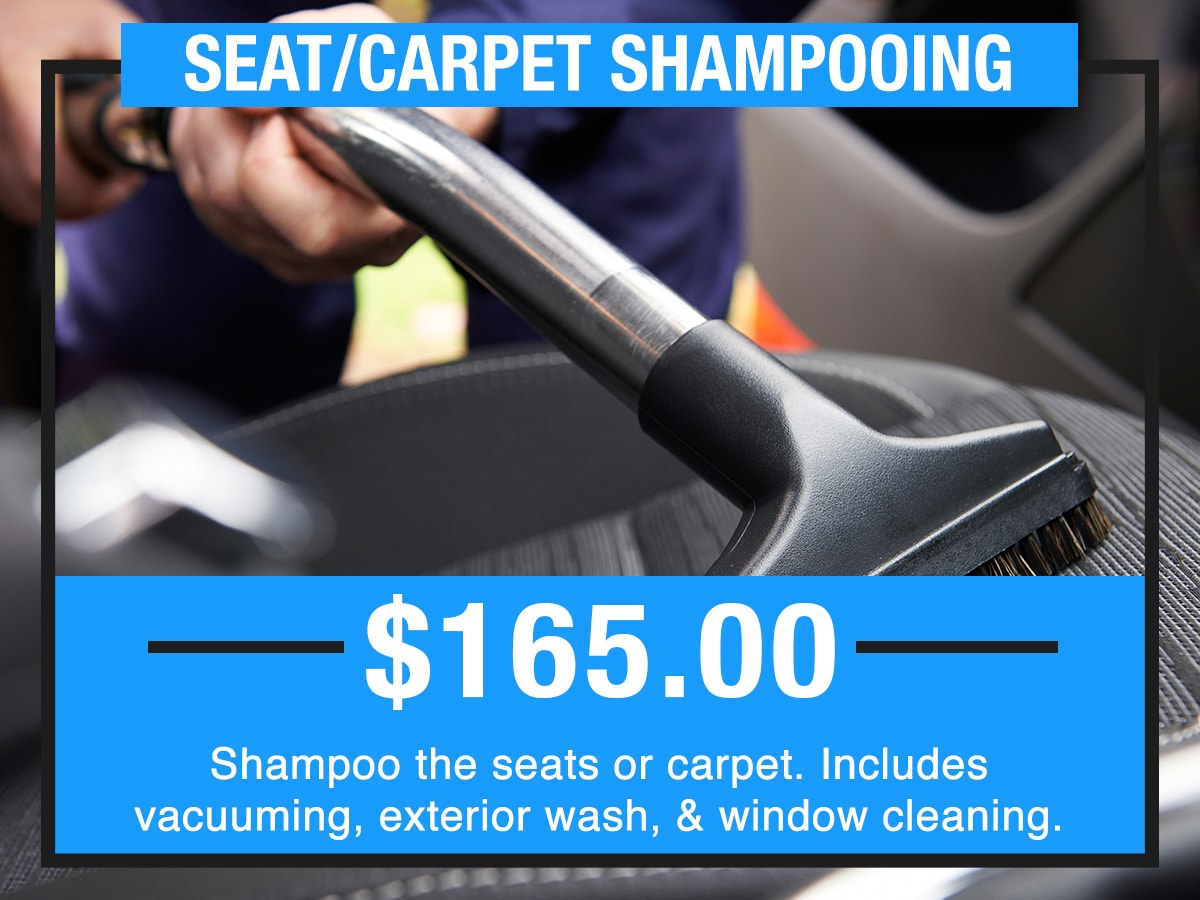 Seat/Carpet Shampooing Service Special Coupon