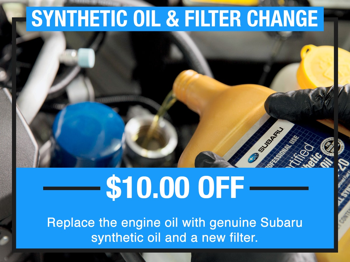 Synthetic Oil and Filter Change Service Special Coupon