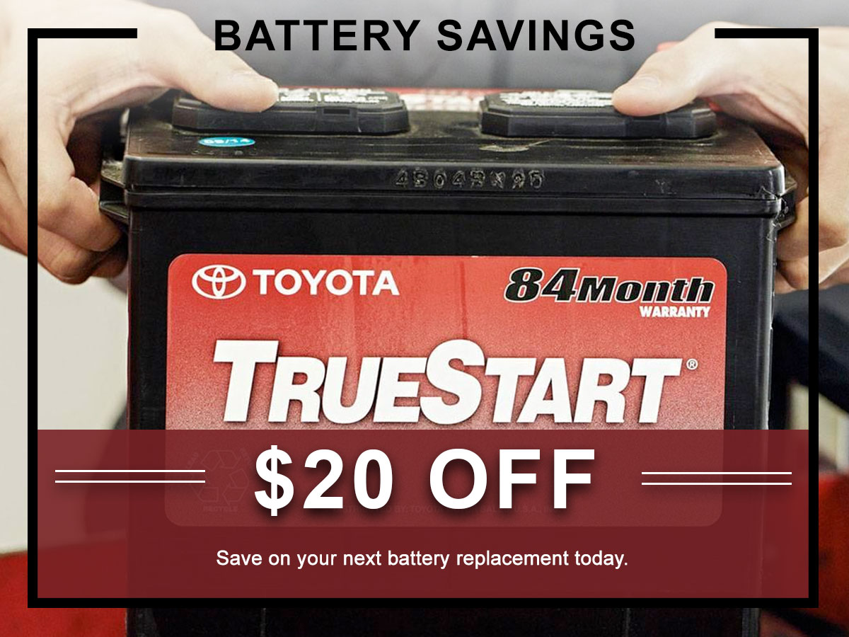 Toyota Battery Service Specials Coupons