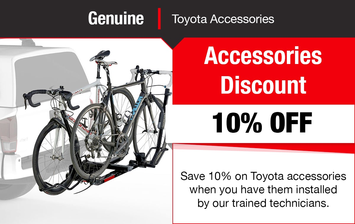 Toyota Accessories Discount Special Coupon