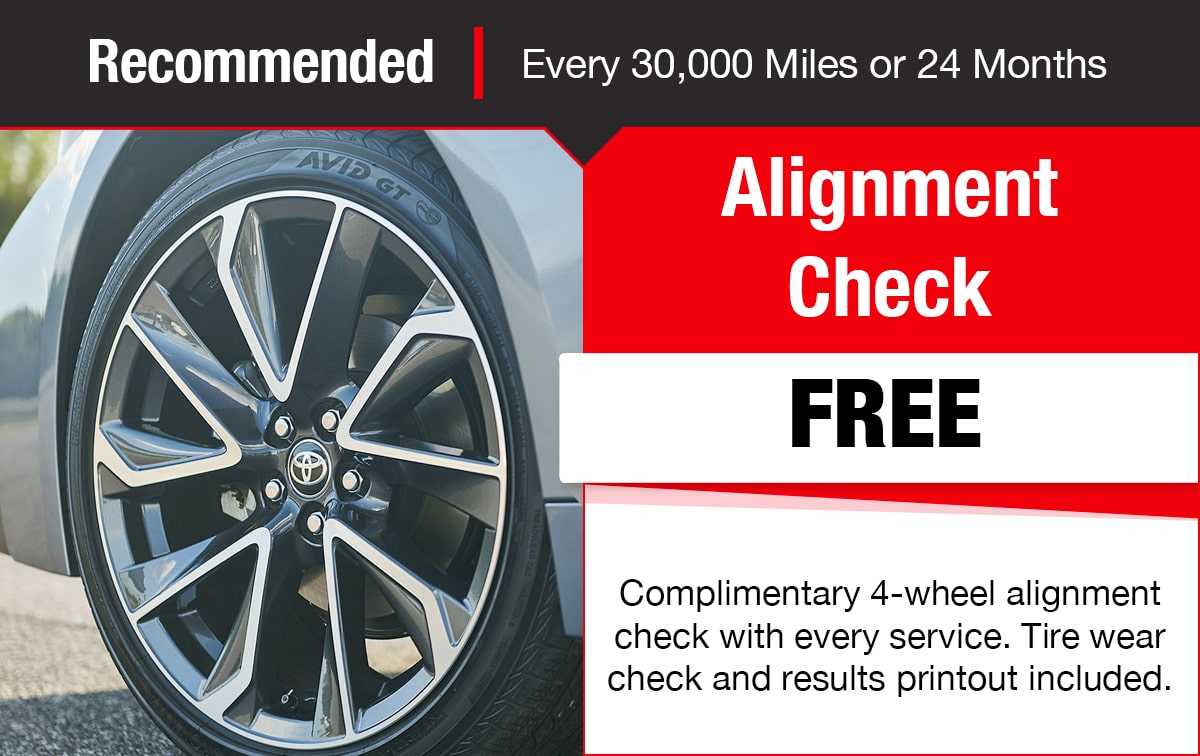 Toyota Alignment Check Service Special Coupon