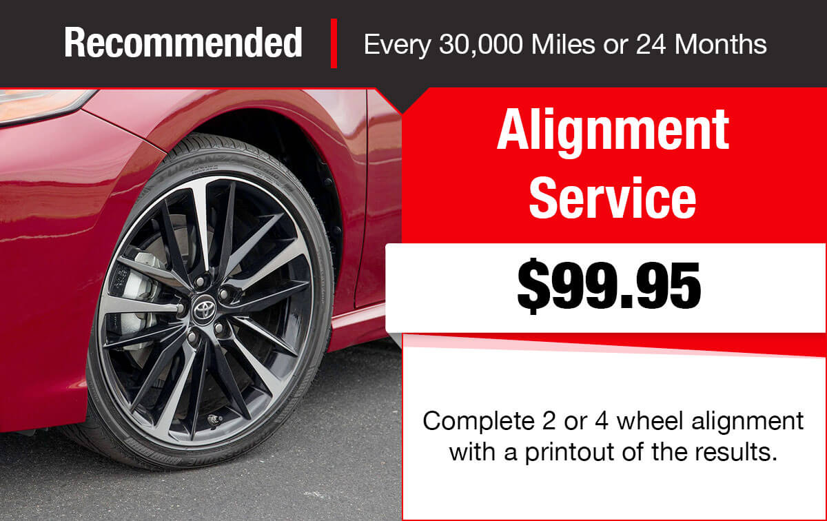 Toyota Alignment Service Special Coupon