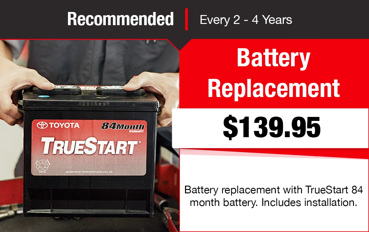 Toyota Battery Replacement Service Special Coupon