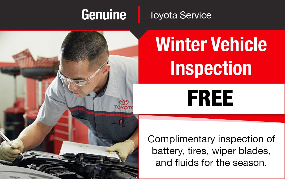 Toyota Winter Vehicle Inspection Service Special Coupon