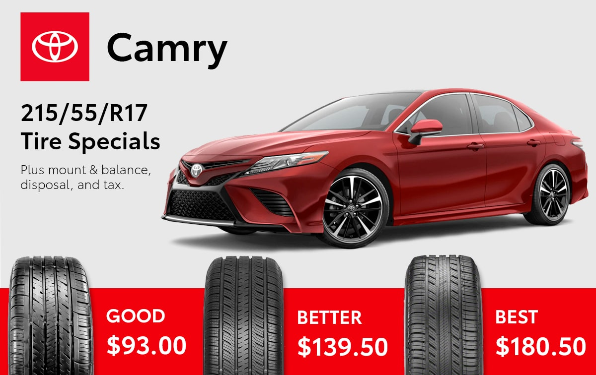 Toyota Camry Tire Special