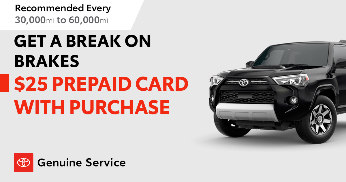 Toyota Brake Service Special Coupon