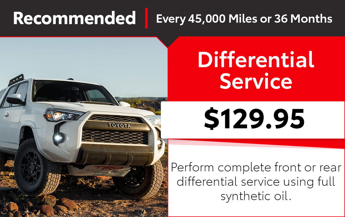 Toyota Differential Service Special Coupon