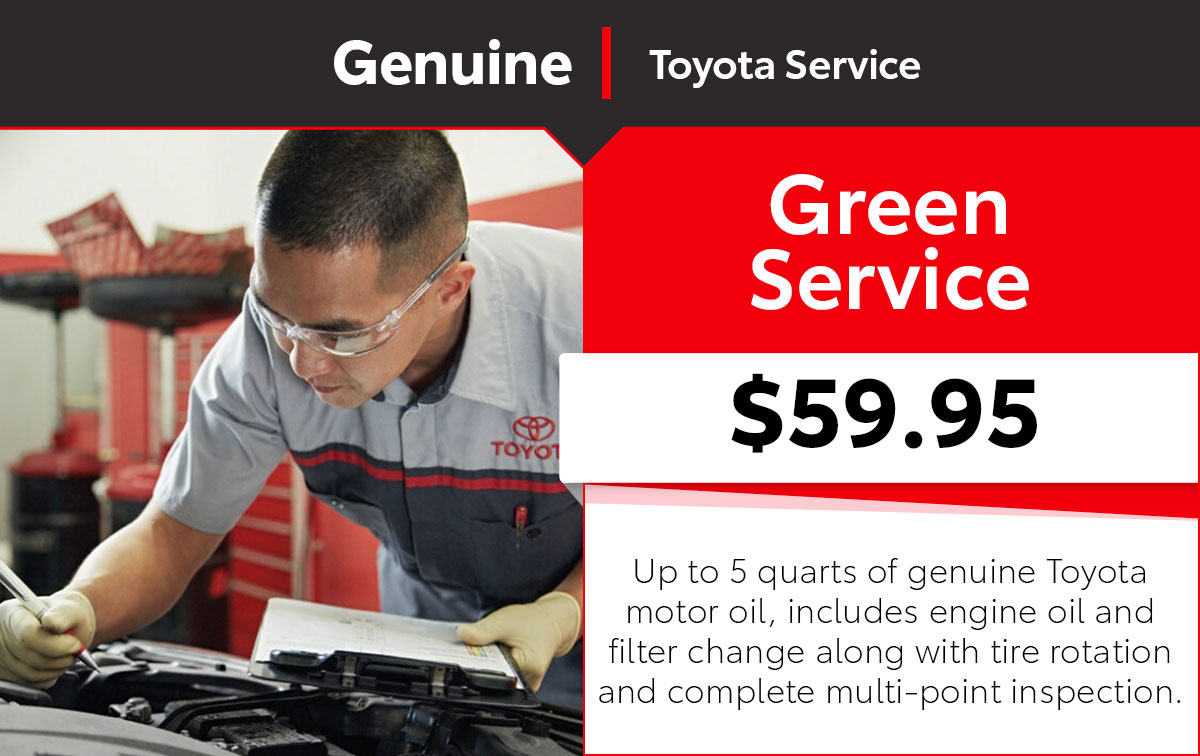 Toyota Green Service Special Coupon
