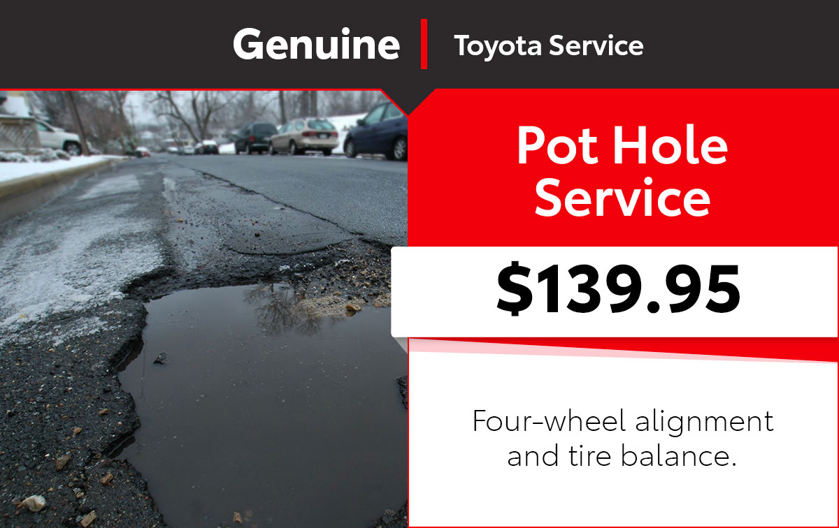 Toyota Pot Hole Service Special Coupon