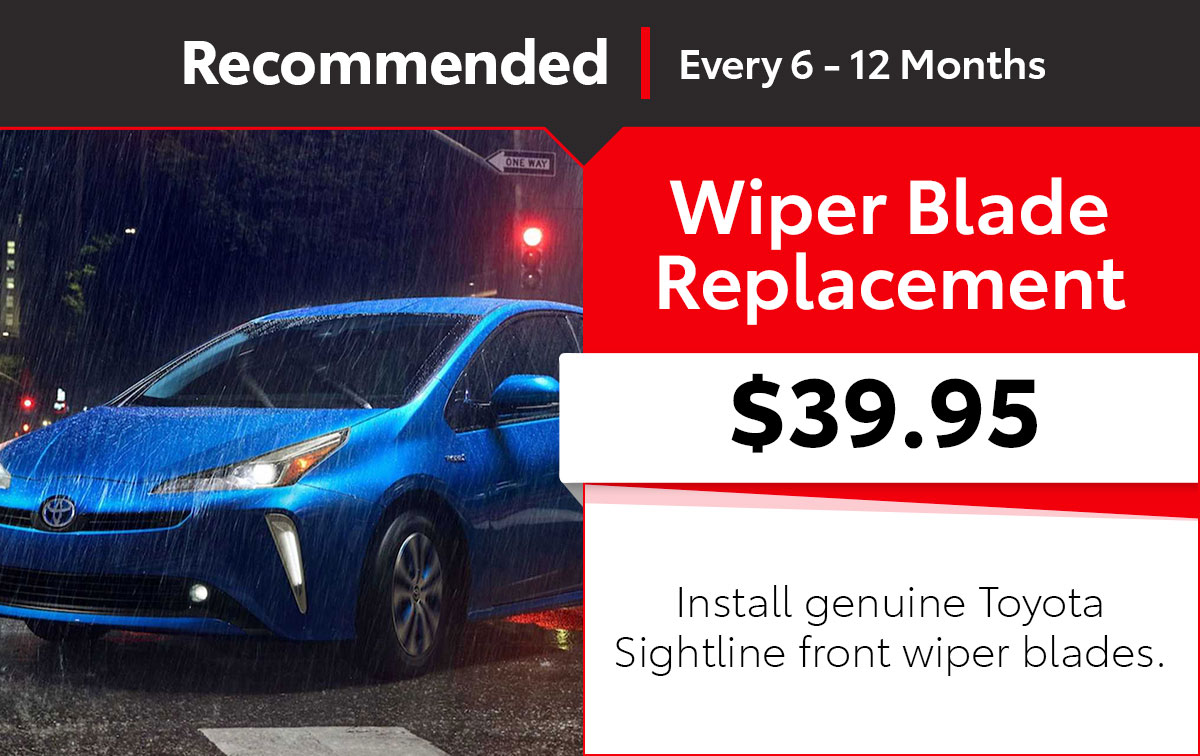 Toyota SightLine Wiper Blade Service Special Coupon