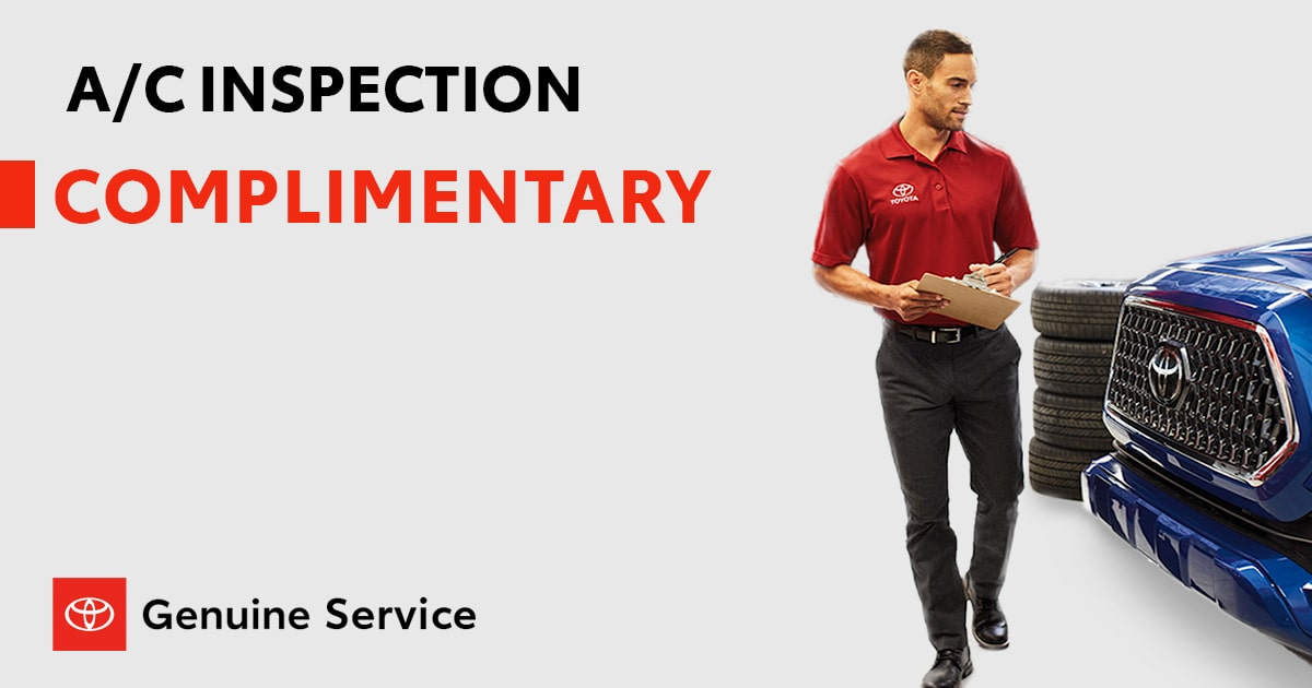 Toyota A/C Inspection Service Special Coupon
