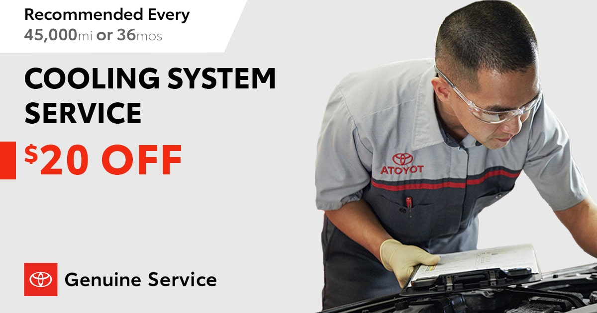 Toyota Cooling System Service Special Coupon