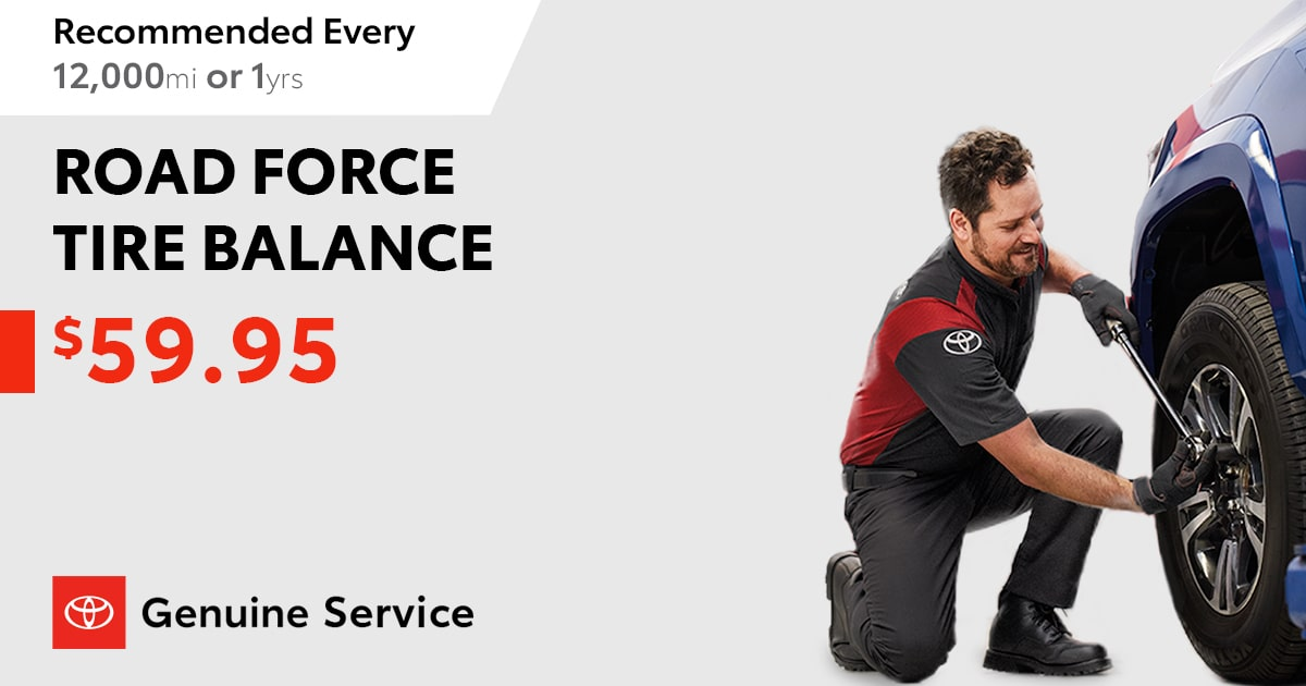 Toyota Tire Balance Service Special Coupon