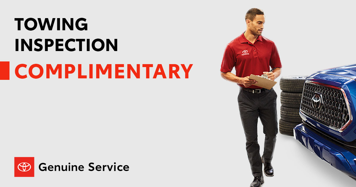 Toyota Towing Inspection Service Special Coupon