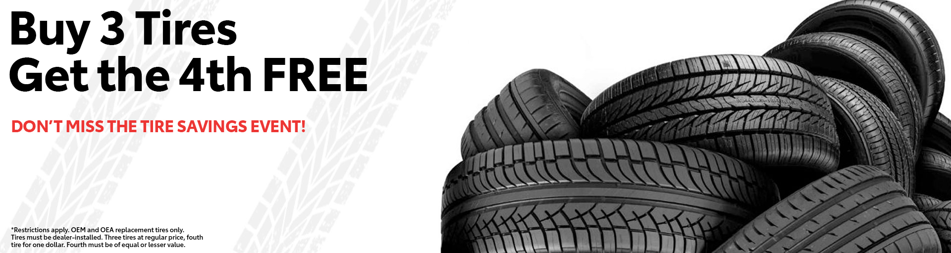 Toyota Buy 3 Tires Special