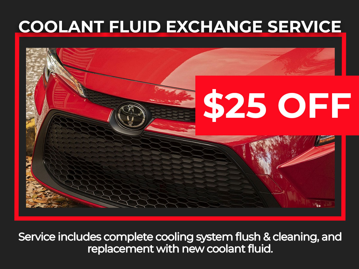 Coolant Fluid Exchange Service Special Coupon
