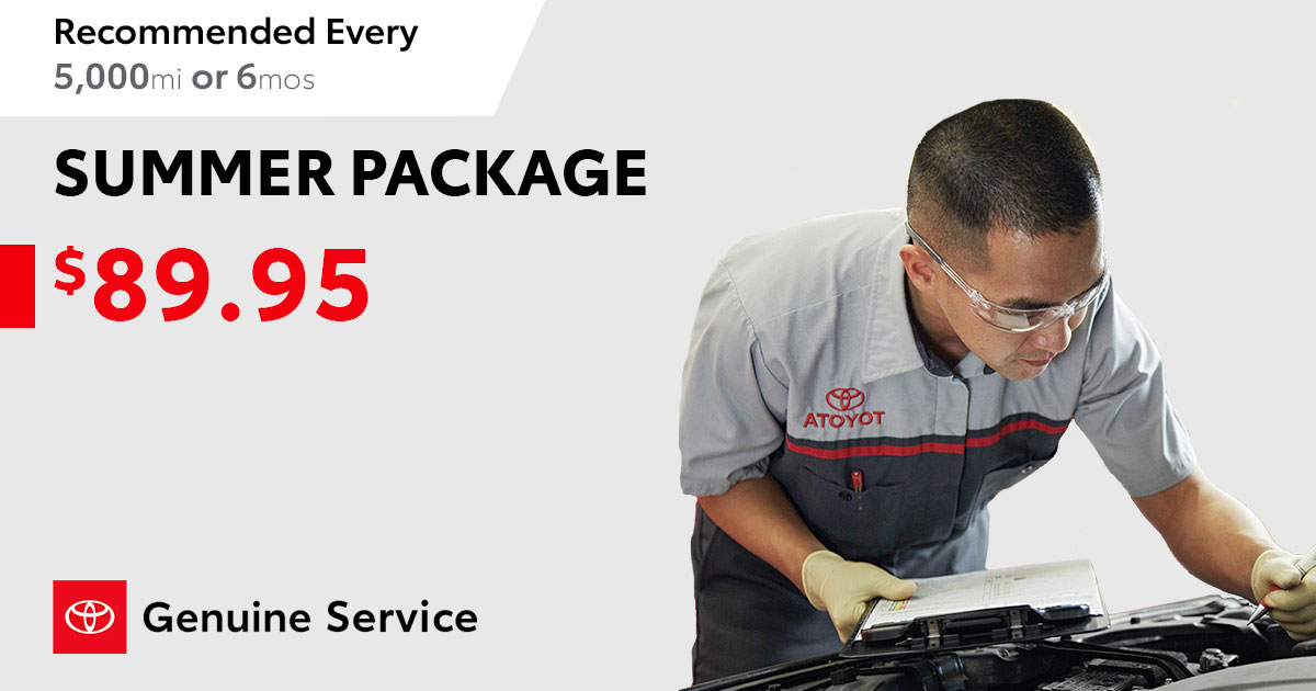Toyota Summer Service Special Coupon