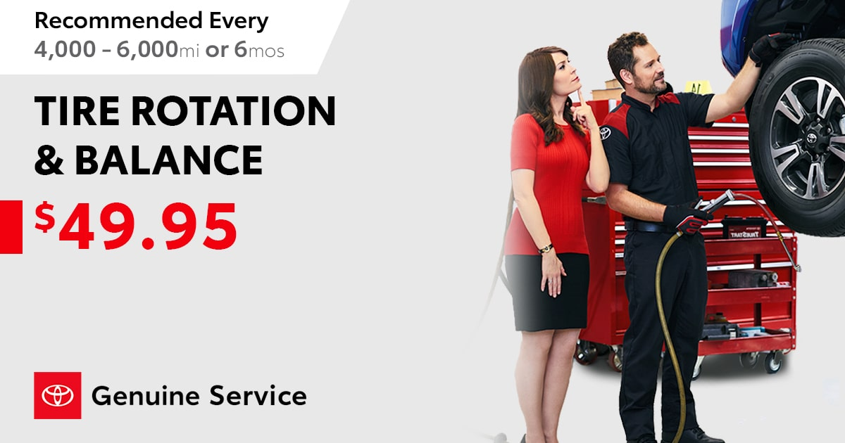Tire Rotation Service Special Coupon
