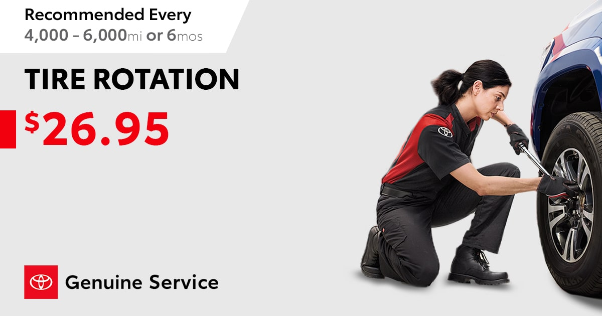 Toyota Tire Rotation Special Coupon