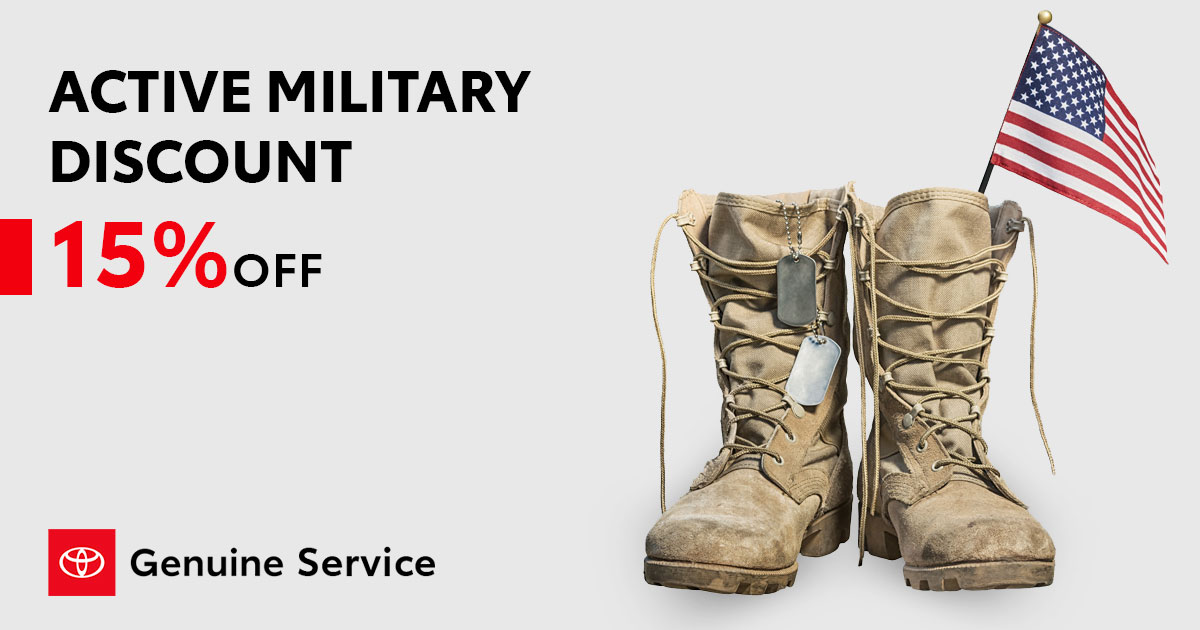 Toyota Service Military Discount