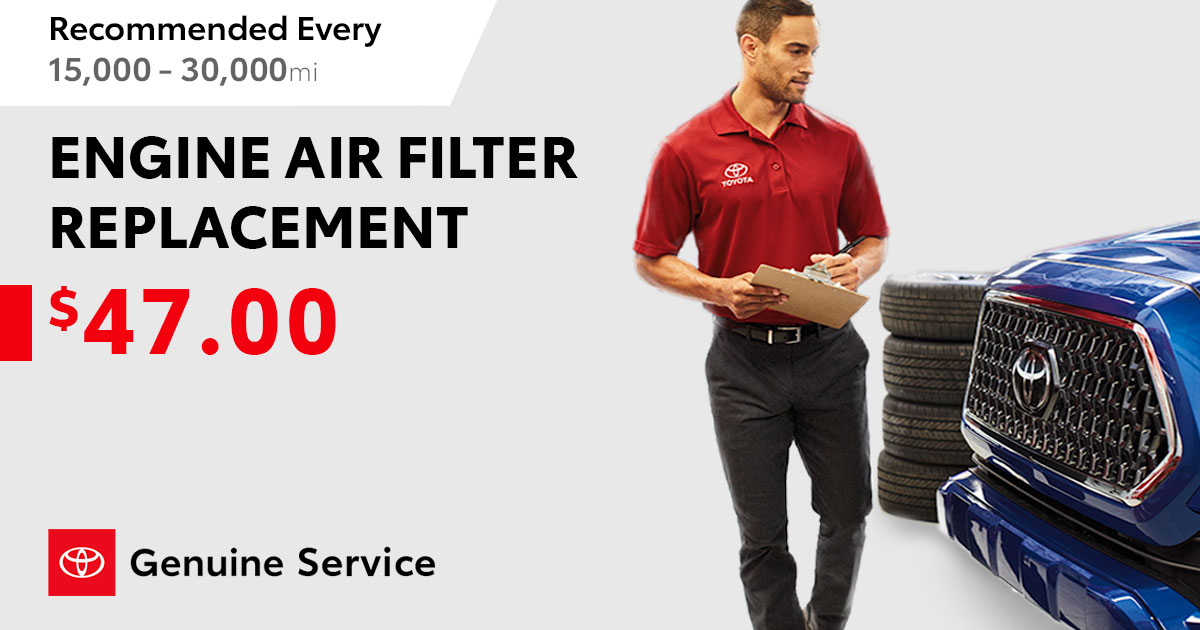 Toyota Engine Air Filter Replacement